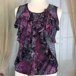 Dress Barn Purple Sleeveless Blouse
